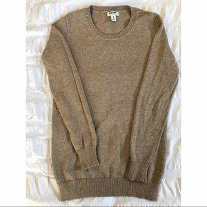 Crew neck tan lightweight sweater